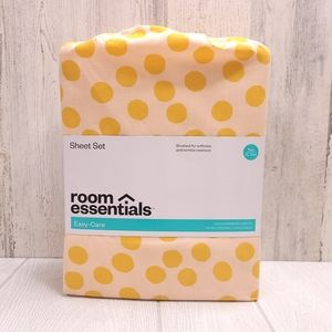 Room Essential Easy Care Printed Pattern Sheet Set
